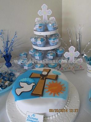 tortas de primera comunion y bautizo